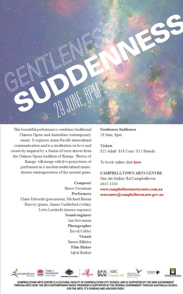 Campbelltown Arts Centre E-flyer 2013