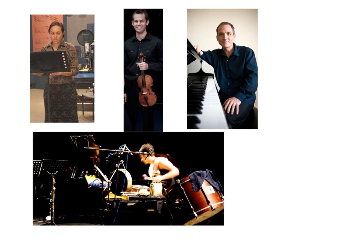 Lotte Latukefu (mezzo-soprano), James Cuddeford (violin), Michael Kieran Harvey (piano) & Claire Edwardes (percussion)