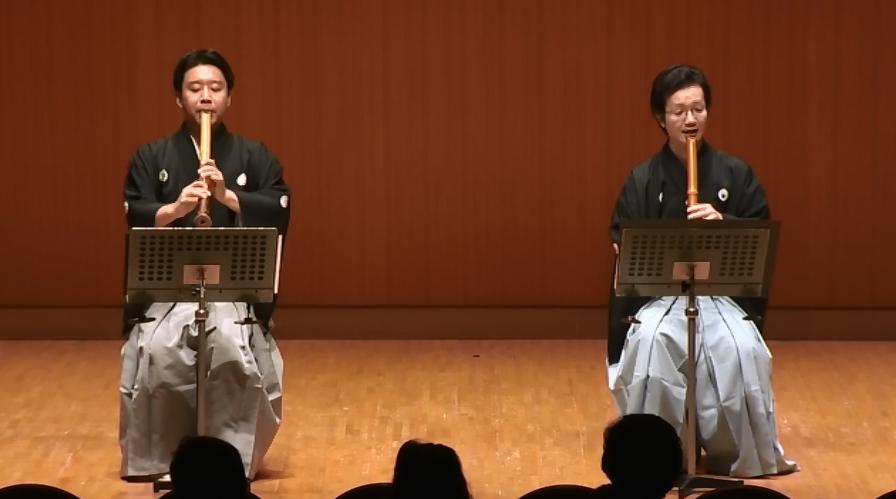 Tomotsune Bizan and Kikuchi Kouzan in Spirit-Presence at Asian Music Festival 2014