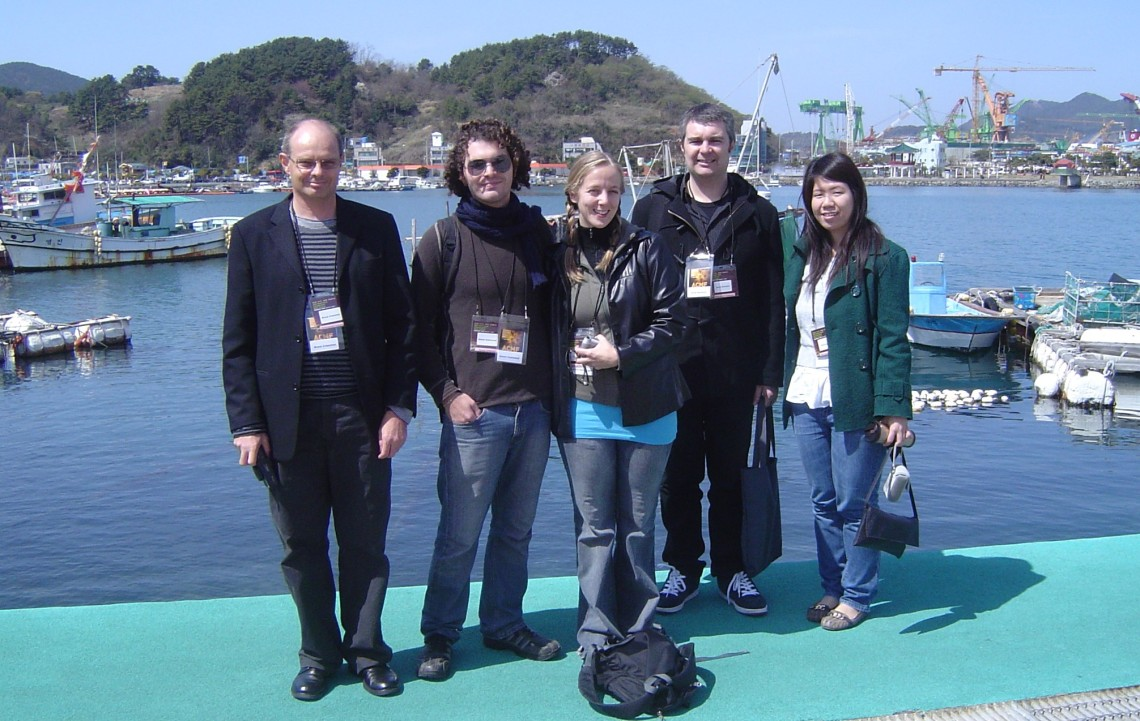 Bruce Crossman with composer colleagues, Tongyeong 2009