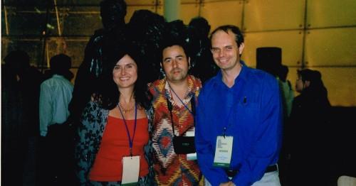 Firm friends: Katia & Andrian Pertout, Bruce Crossman