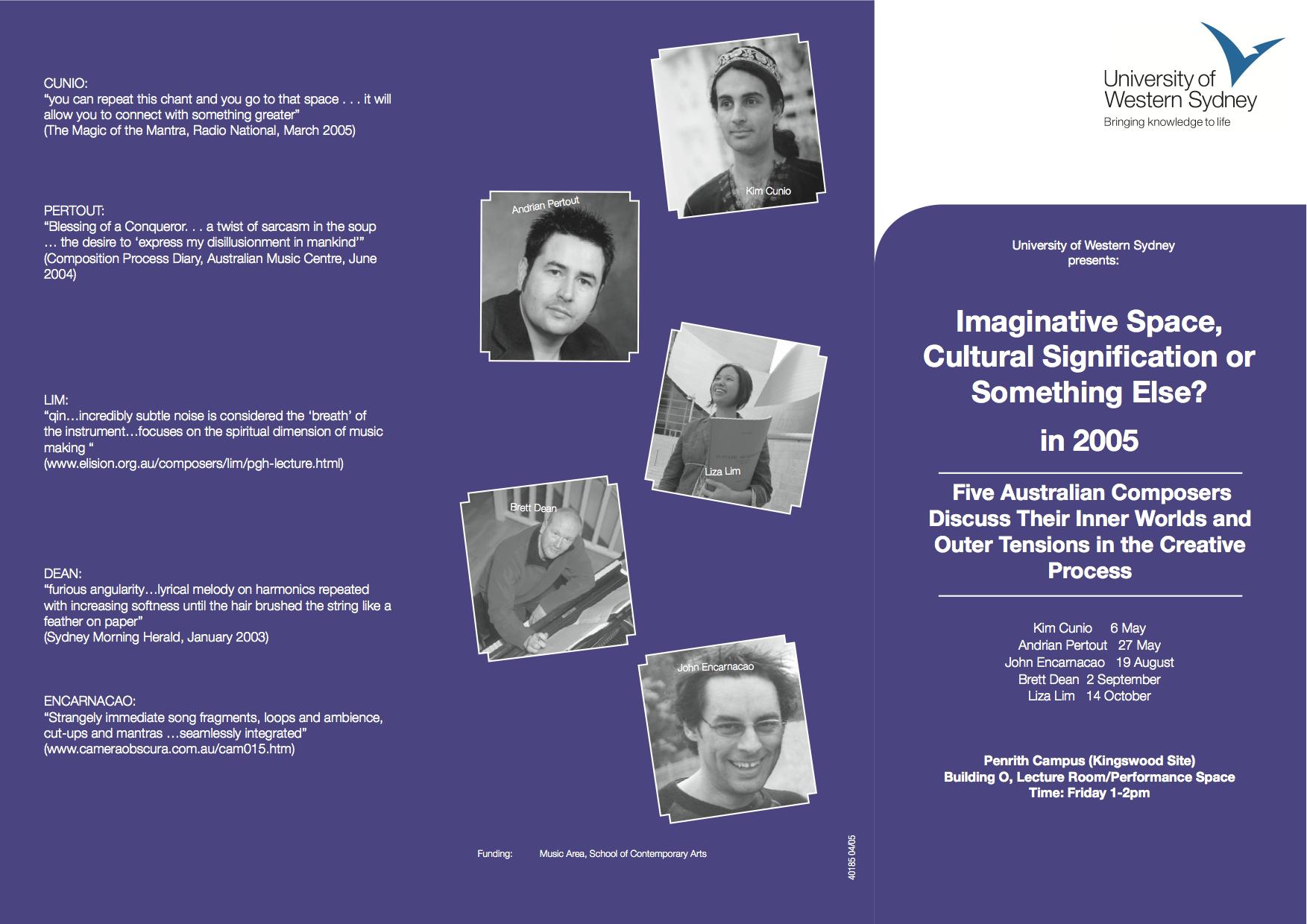 Forum 2005 40186 DL Brochure
