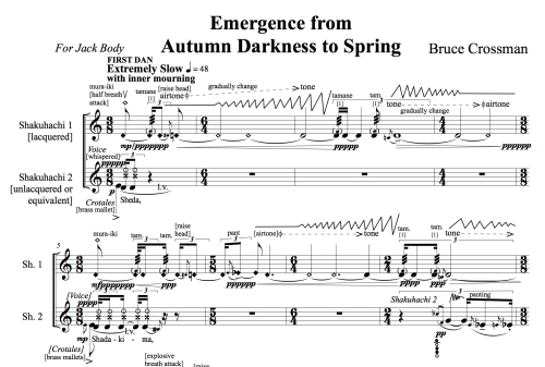 Emergence from Autumn Darkness to Spring (bars 1-8)