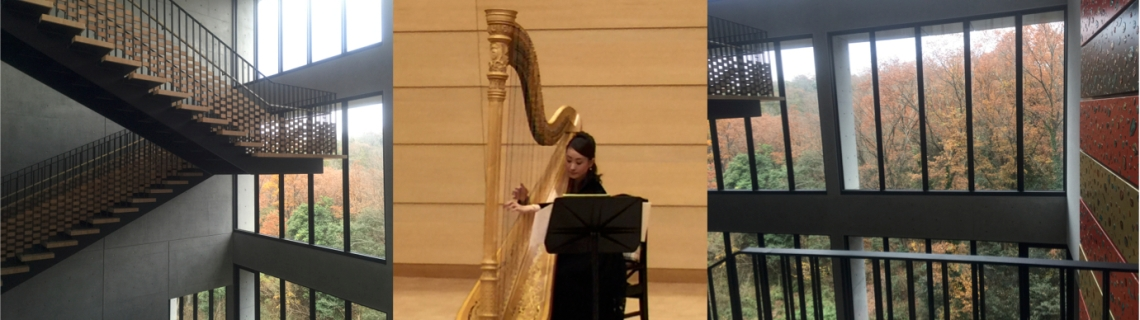 Yukiko Hirao (harp), Chamber Music Hall, Aichi University of the Arts, Japan